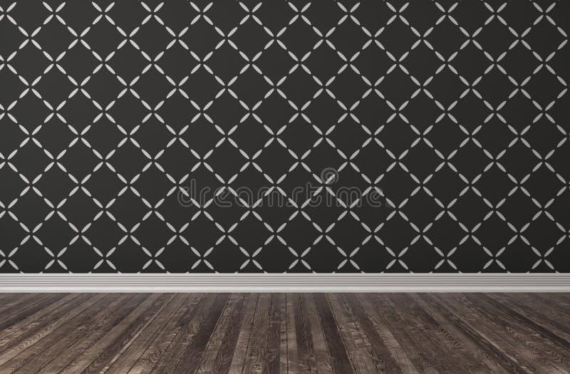 Interior preto vazio ilustração 3D ilustração royalty free