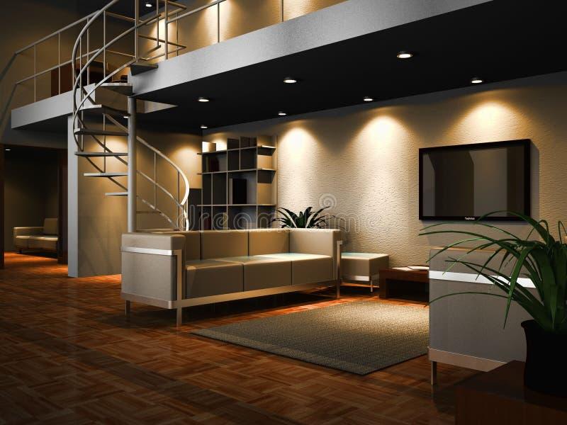 Interior projetado moderno ilustração do vetor