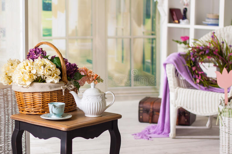 Interior in the Provencal style: furniture and decor. Interior in Provencal style: furniture and decor royalty free stock photos