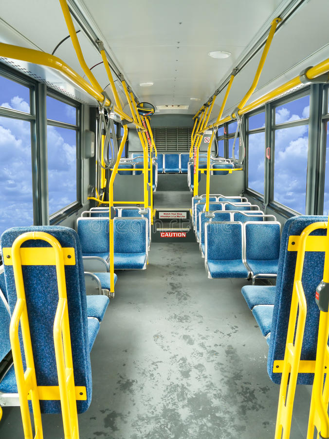 Download Interior Of A Public Bus Royalty Free Stock Image - Image: 25425456