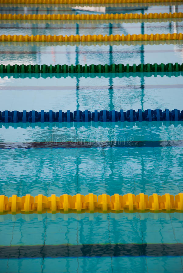Download Interior Of Public Indoor Swimming Pool With Racing Lanes And Bl  Stock Image   Image