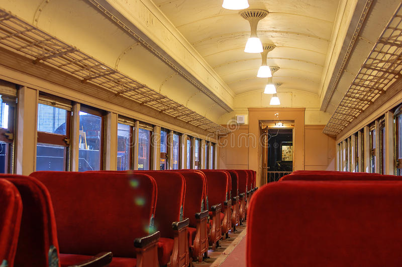 Interior of a Pullman train of 1930's royalty free stock photo