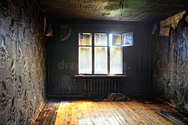 Interior queimado foto de stock