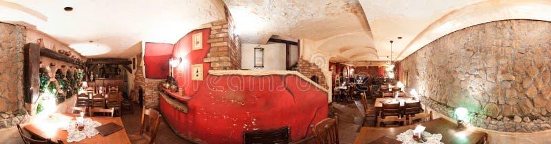 Interior rústico do restaurante fotos de stock royalty free