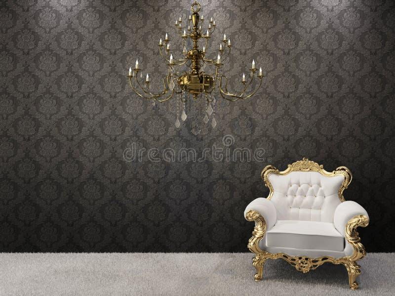 Interior real. lámpara con las butacas imagen de archivo libre de regalías