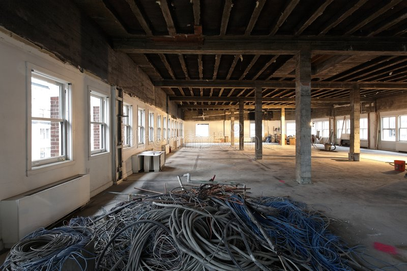Download Interior Remodel Disused Cabling For Recycle Stock Photo - Image: 8952340