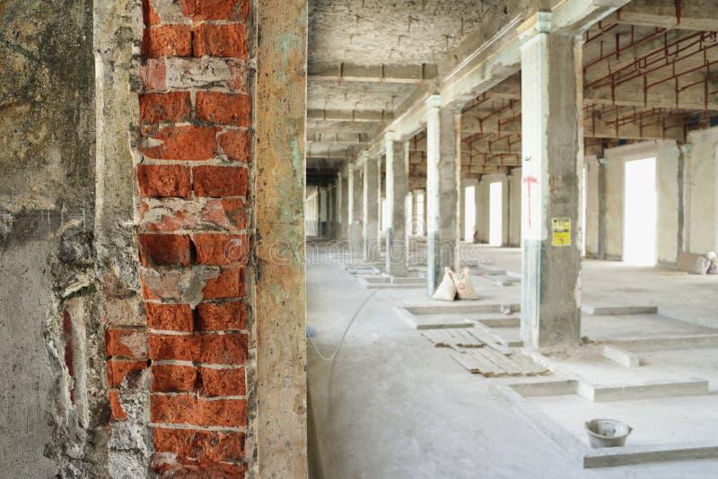 Interior renovado de construção do canteiro de obras fotos de stock