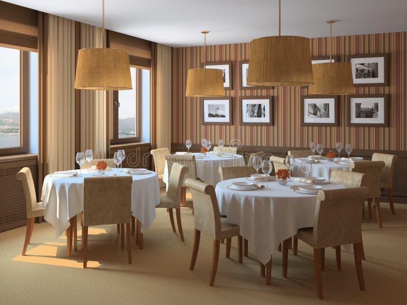 Interior of restaurant. royalty free illustration