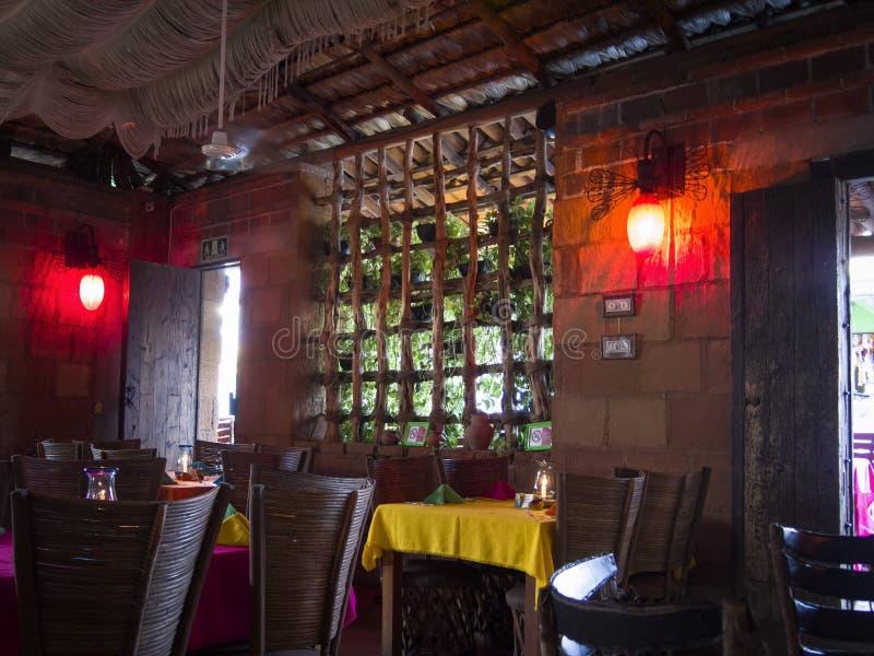 Interior restaurant Cabo San Lucas stock images
