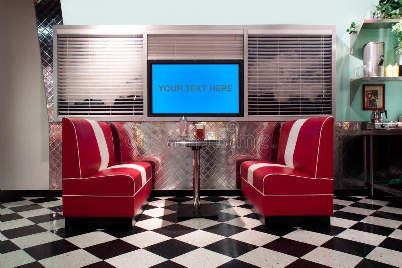Interior retro do estilo imagens de stock