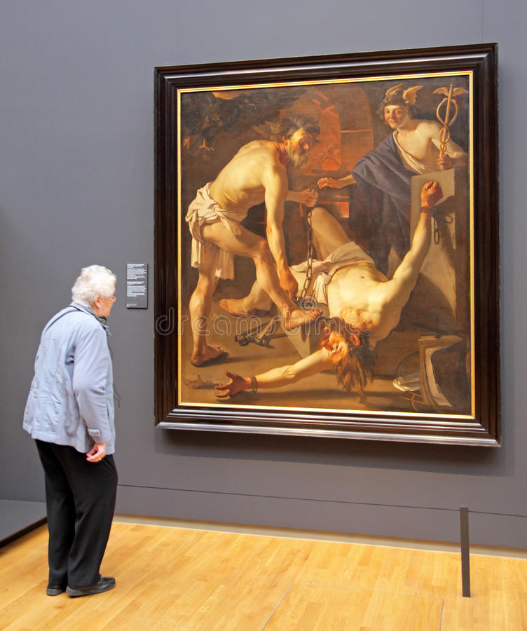 Interior of Rijksmuseum in Amsterdam, Netherlands royalty free stock photos