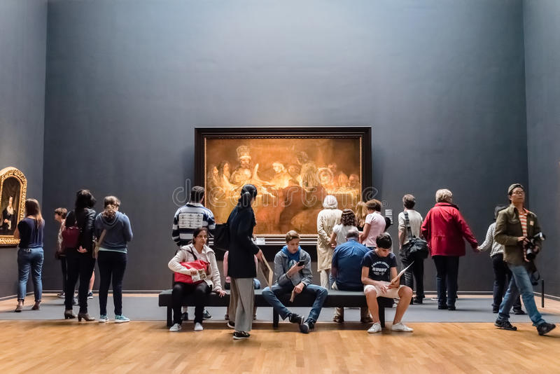 Interior of Rijksmuseum in Amsterdam stock photos