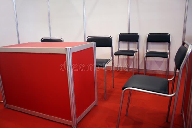 Interior rojo fotografía de archivo