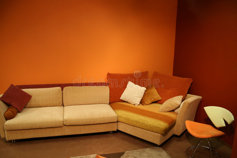 Interior rojo imagen de archivo