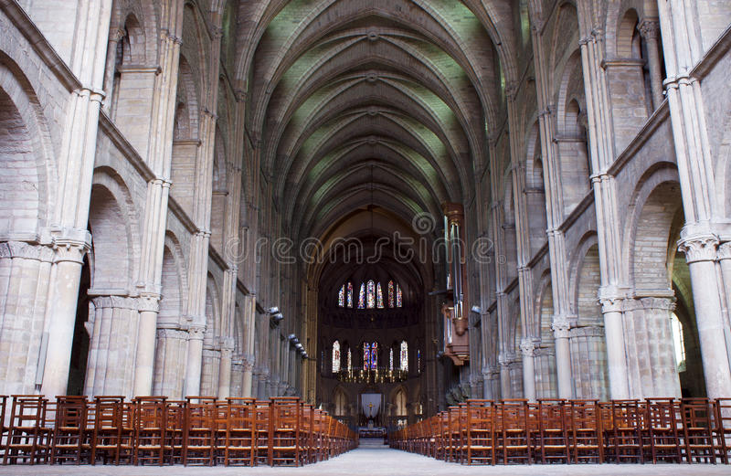 Download The Interior Of The Romanesque Basilica Of St, Remi Stock Image - Image: 34114487