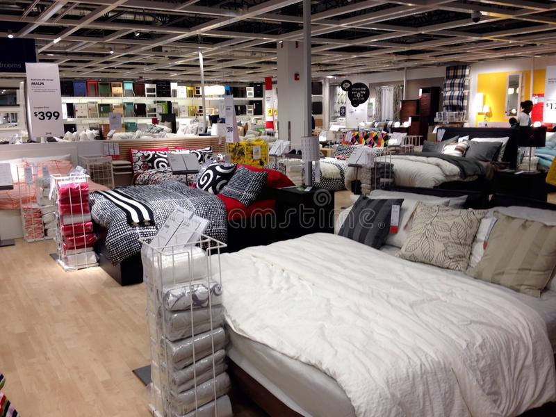 Interior of room. Big American store is proposing different kind of furnishes in showroom during the sales period royalty free stock images