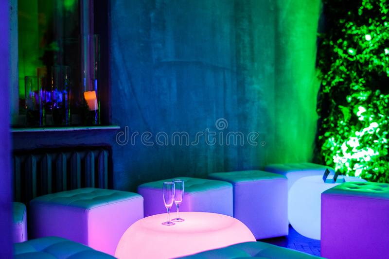 The interior of the room at the party royalty free stock images