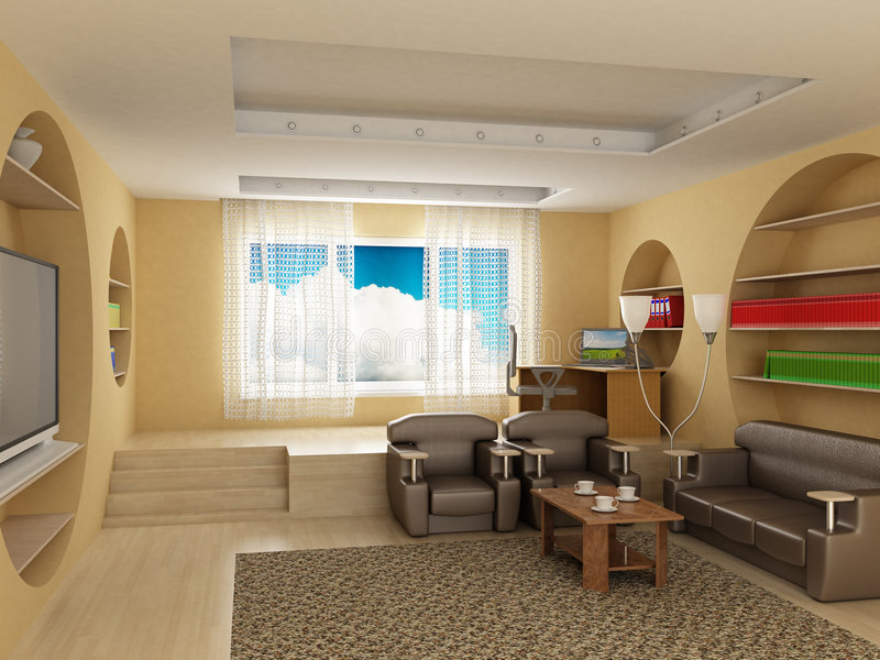 Download Interior Of A Room Of Rest. Royalty Free Stock Photography - Image: 5108317