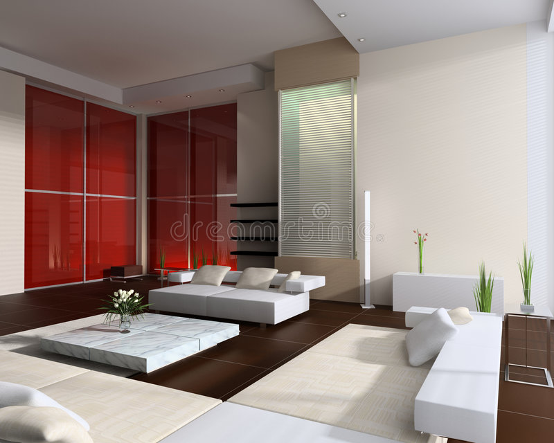 Interior of a room of rest royalty free illustration