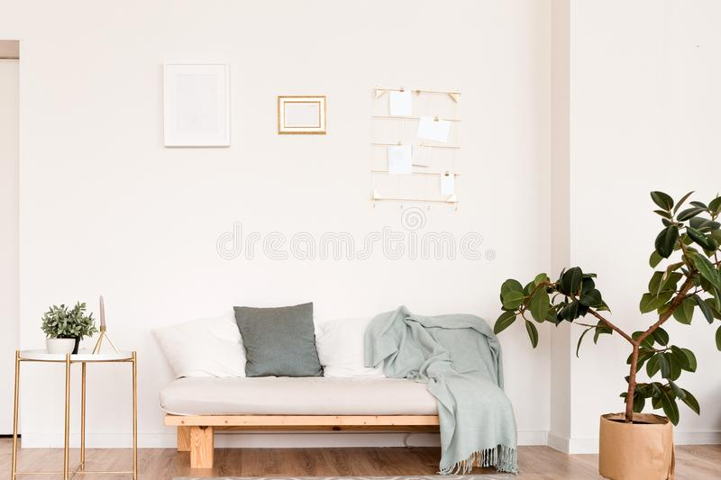Super Scandinavian Sofa With Pillows And Dark Yellow Blanket In Dailytribune Chair Design For Home Dailytribuneorg
