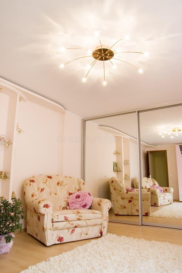 Interior rosado imagen de archivo