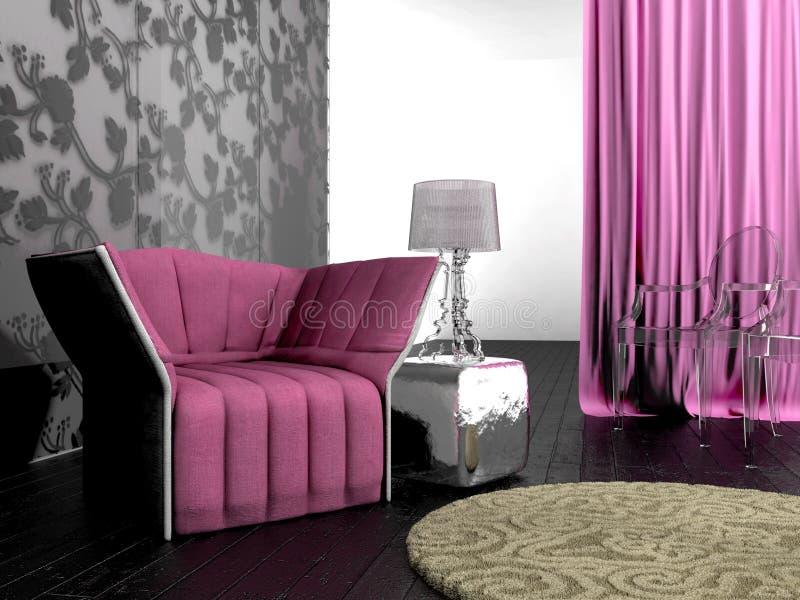 Interior rosado del diseño fotos de archivo libres de regalías