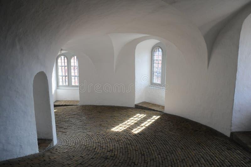 Interior of Round Tower in Copenhagen, Denmark royalty free stock photo