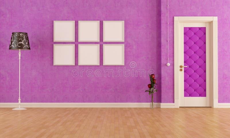Interior roxo clássico vazio ilustração stock