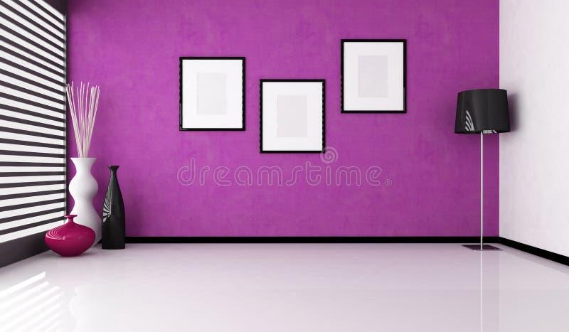Interior roxo vazio ilustração do vetor