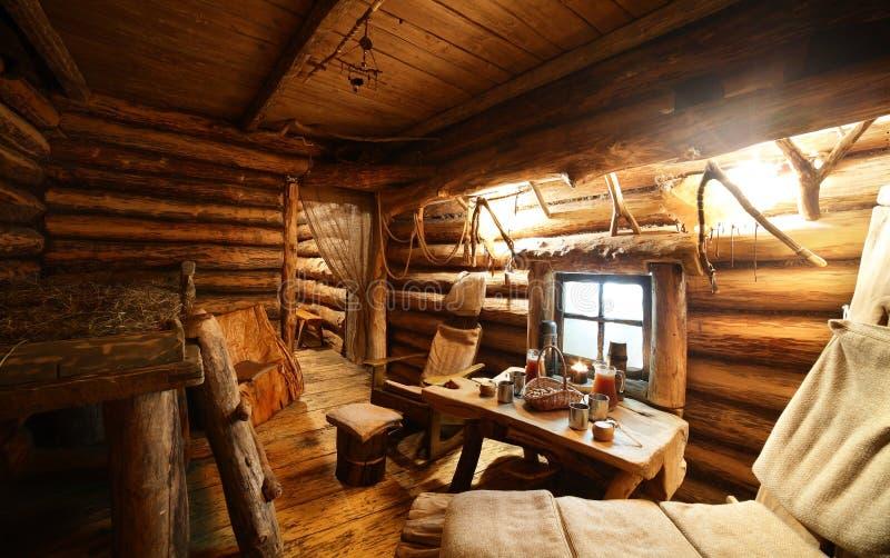 Interior Of Russian Wooden Sauna Stock Photo Image Of