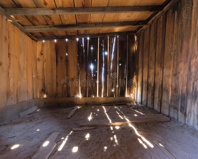 Interior Of A Rustic Old Wooden Barn Stock Photo - Image ...