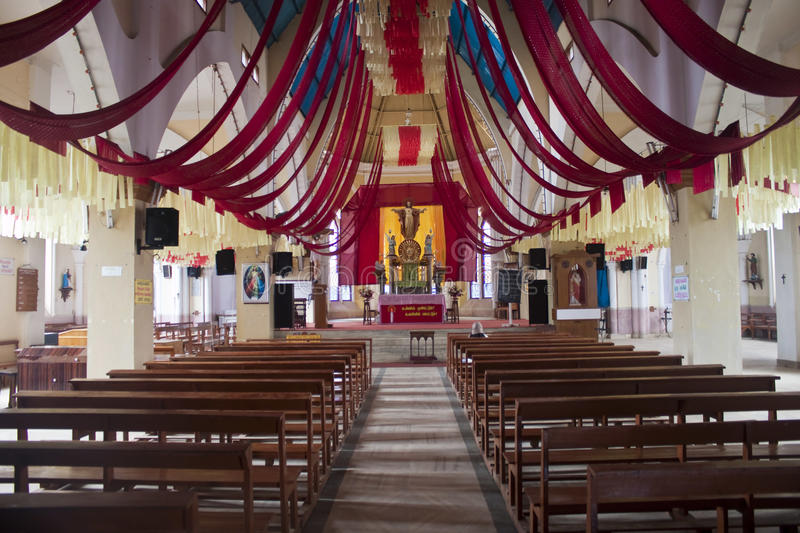 Download Interior Of Sacred Heart Church In Ooty Stock Photo - Image: 22175980
