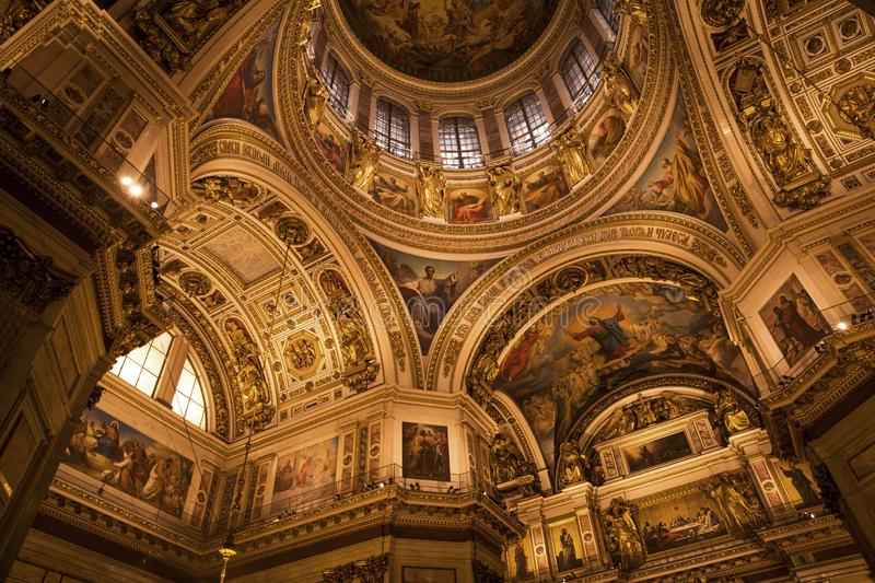Interior of Saint Isaac`s Cathedral in St. Petersburg, Russia royalty free stock photos