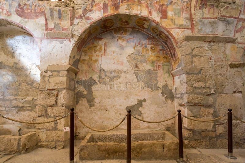 Interior of Saint Nicholas Church royalty free stock photo