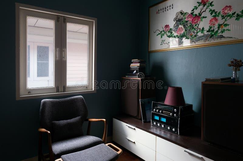 Interior, sala de visitas imagem de stock