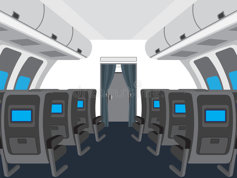 Interior of salon of the plane. royalty free illustration