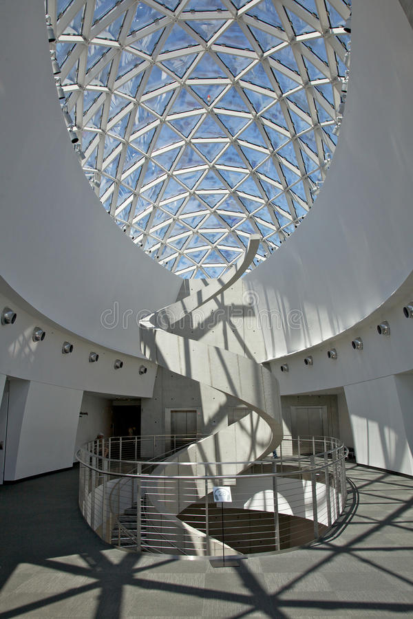 Interior of the Salvador Dalí Museum in St Petersburg stock photo
