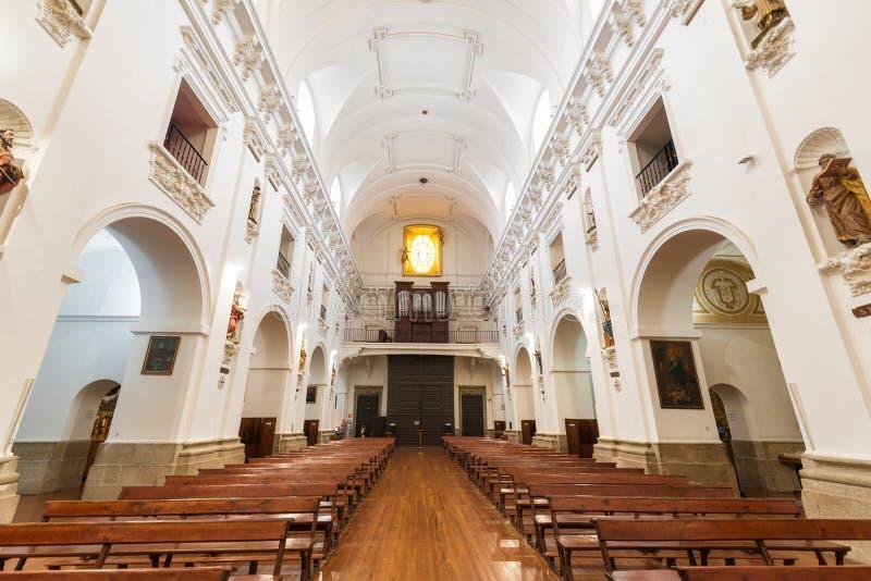 Interior of San Ildefonso Church or Jesuit church Iglesia de San Idelfonso, Toledo, Spain stock photo