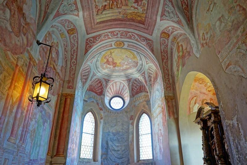 Interior sangrado do castelo imagem de stock
