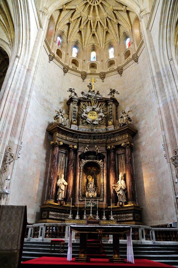 Interior of the Santa Maria de Segovia, Spain stock photo