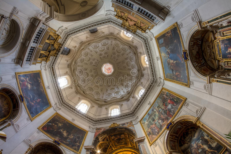 Interior of Santa Maria Della Pace, Rome, Italy royalty free stock images