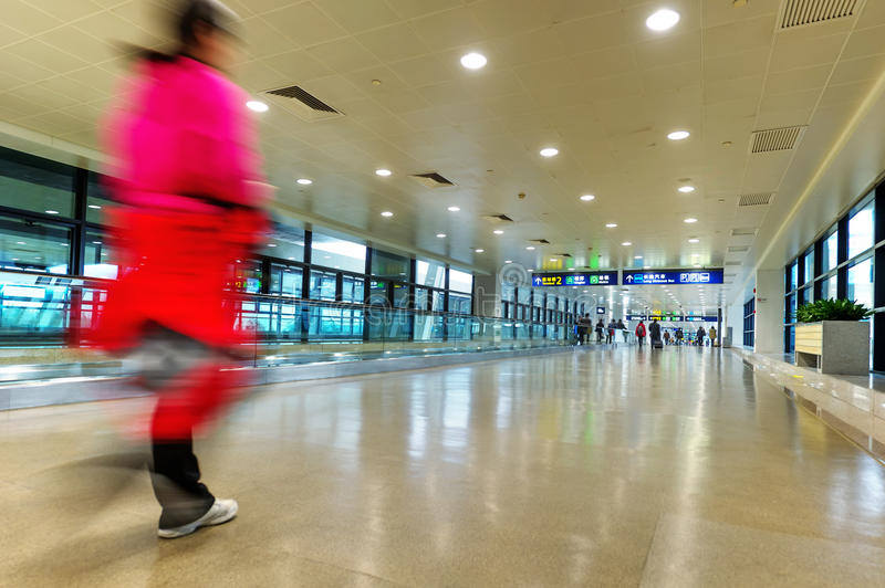 Shanghai Airport Pudong Interior Stock Image Image Of