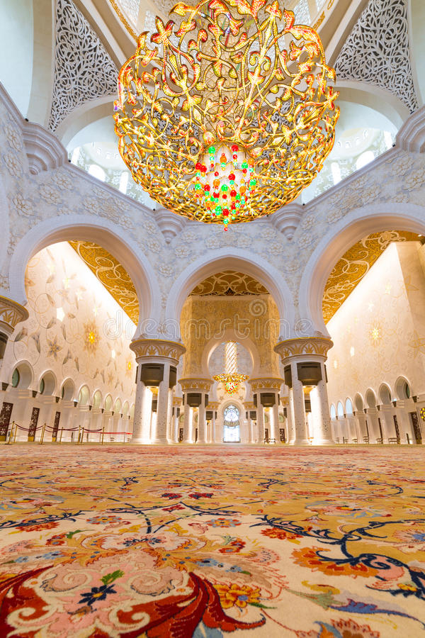 Download Interior Of Sheikh Zayed Grand Mosque In Abu Dhabi Editorial Image