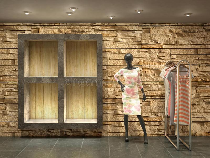 interior shop with mannequin. royalty free stock image