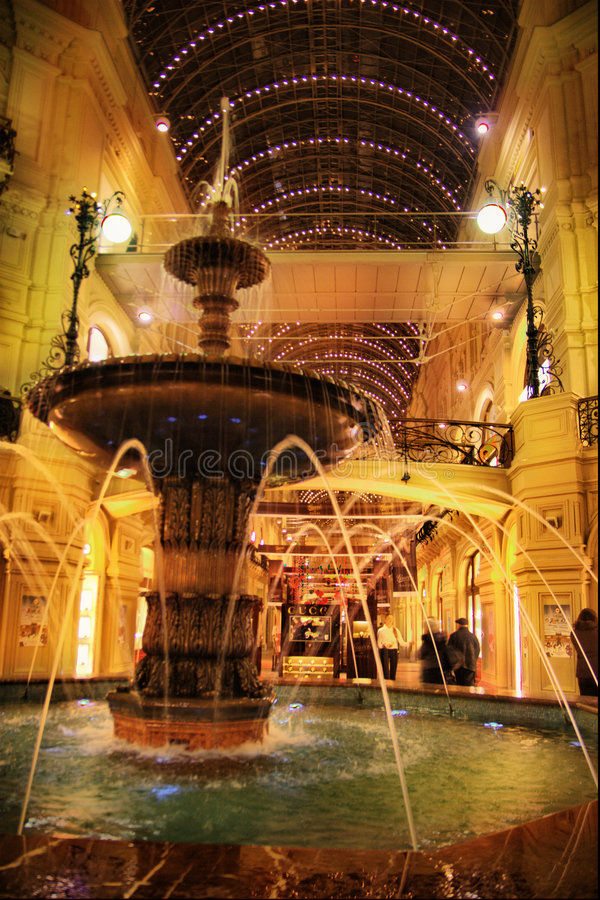 Interior of shopping center royalty free stock photo