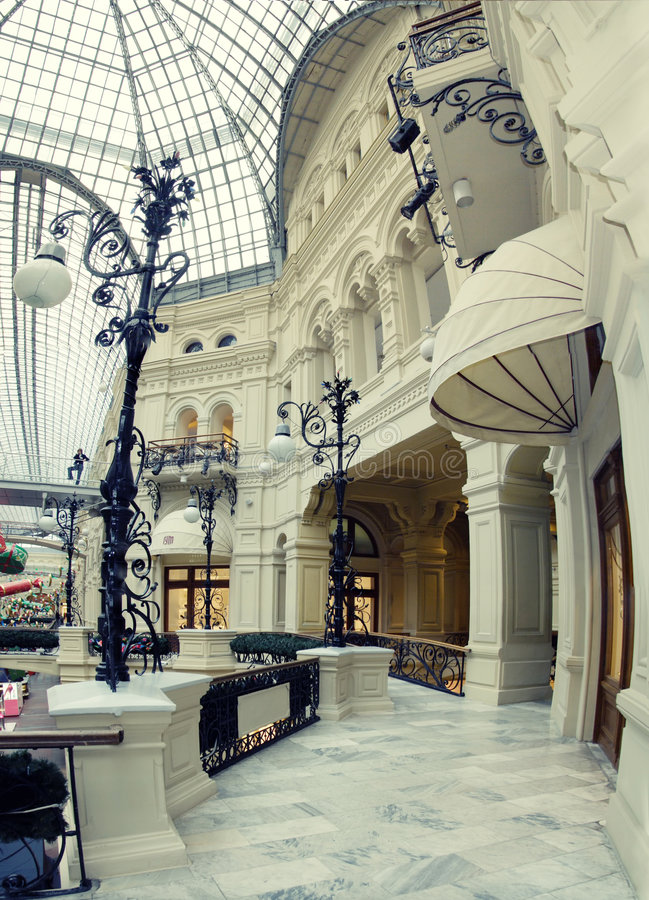 Interior of shopping center royalty free stock image