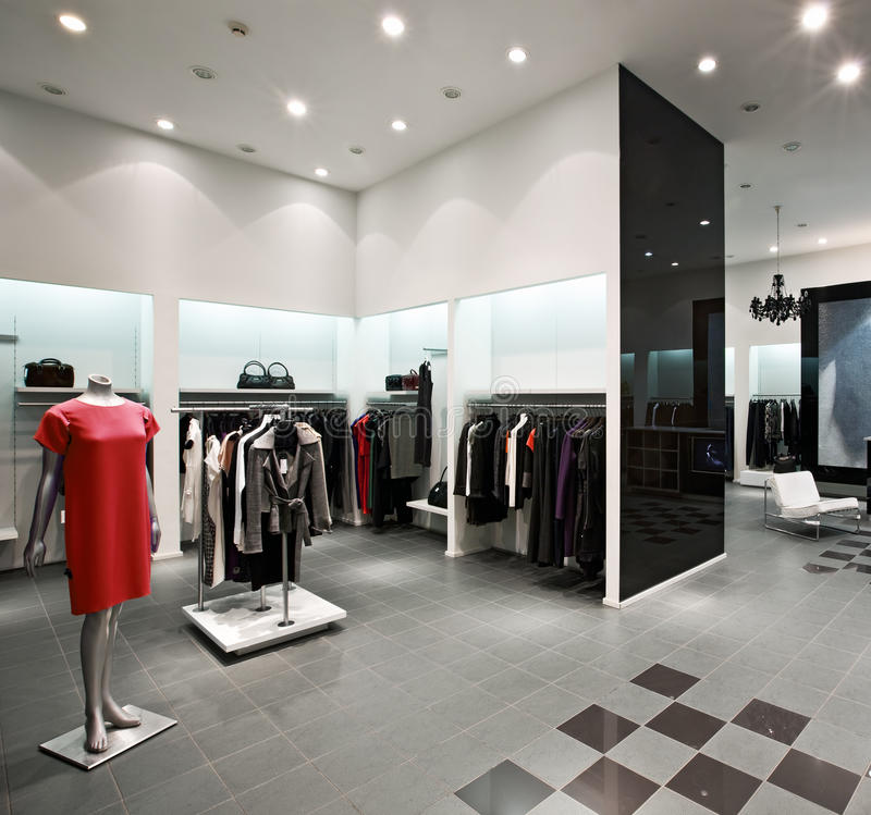 Download Interior of shopping mall stock image. Image of reflection - 12696257