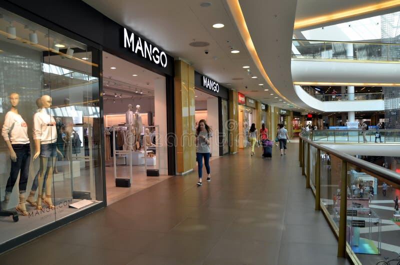 Interior of shopping mall Galeria. Mango store in shopping mall Galeria in St. Petersburg, Russia stock photography