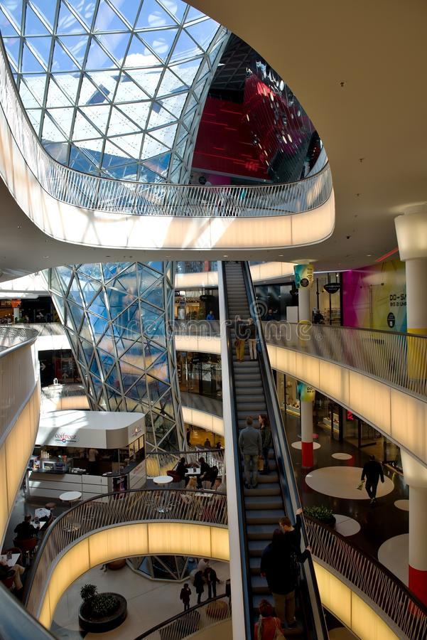 Interior Frankfurt interior shopping mall myzeil in frankfurt germany editorial stock