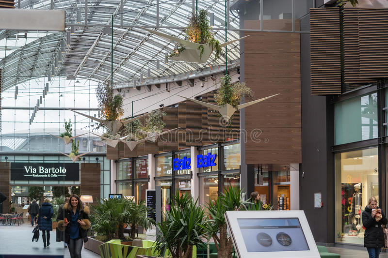 Interior Shopping Mall of the Ruhr Park in Bochum. stock photo